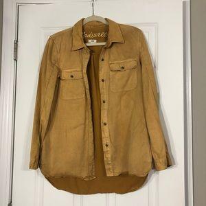 Madewell Mustard Tomboy Button Down Work Shirt